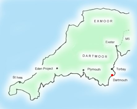 South Devon England Map.Kilnfield Holiday Cottage Self Catering Accommodation In Dartmouth